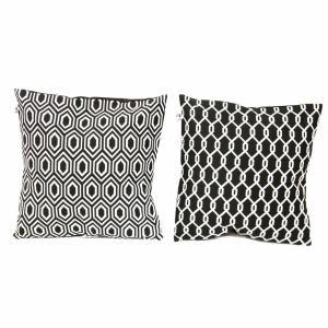Black & White Geometric Pillow