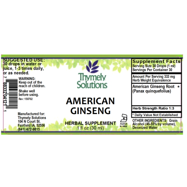 American Ginseng 1oz