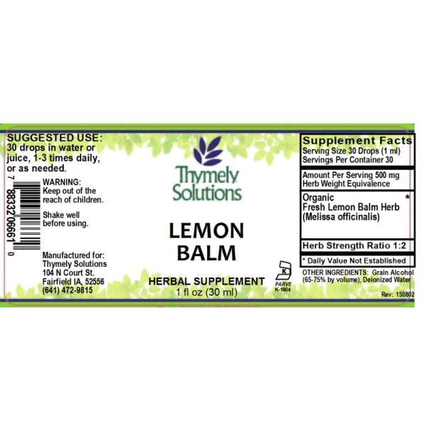 Lemon Balm 1oz