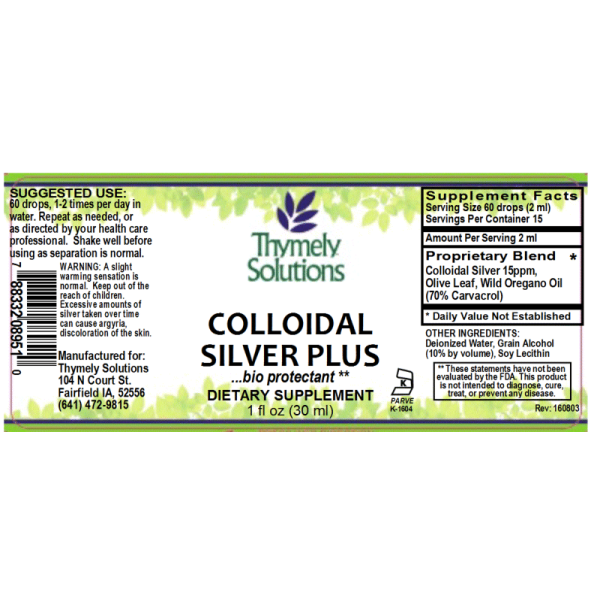 Colloidal Silver Plus 1oz