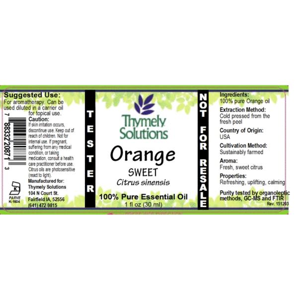 Organic Sweet Orange Essential  1oz