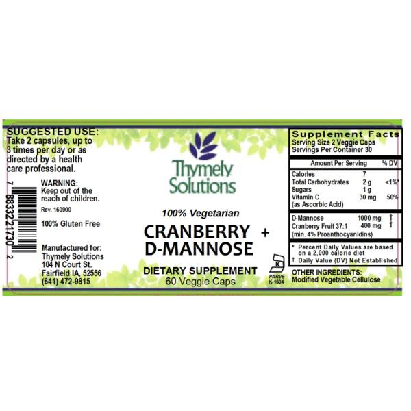 Cranberry + D-Mannose 60Vc