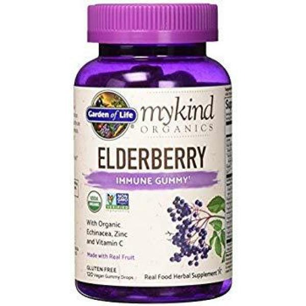 MyKind Organic Herbal Elderberry Gummies 120 Ct