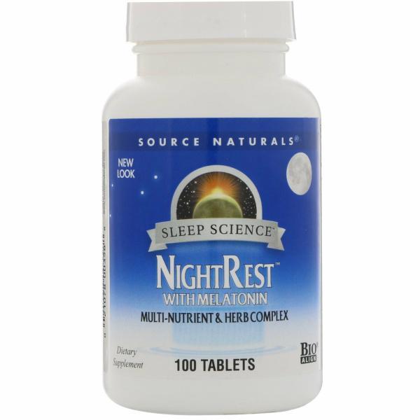 Night Rest W/ Melatonin 100 Tablets