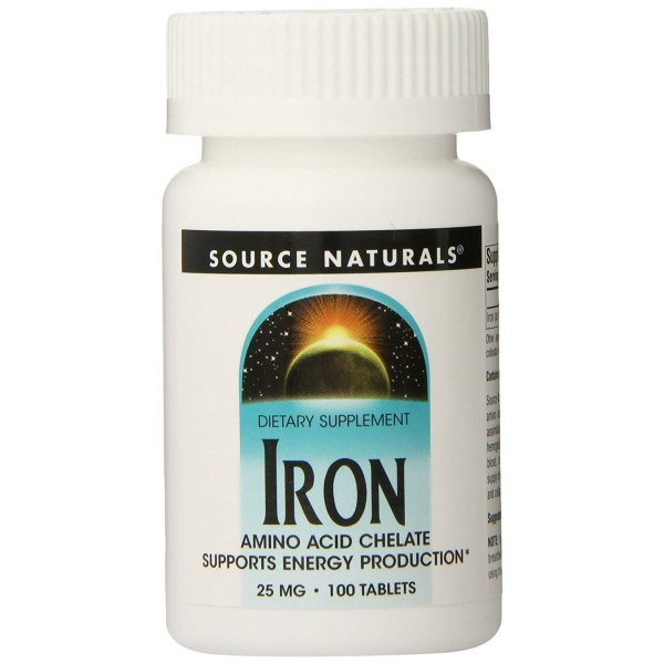 Iron Chelate 25 Mg 100 Tablets