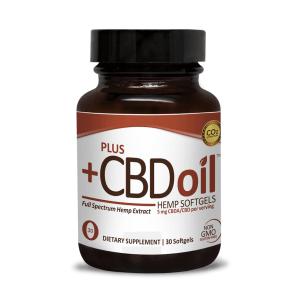 Plus CBD Oil Raw Formula Softgels 150mg 30c