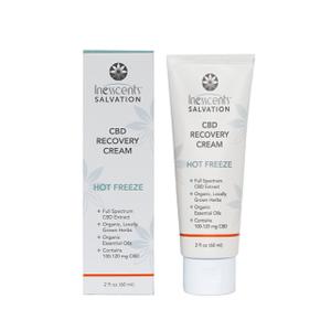 Inesscents CBD Oil Hot Freeze Cream 2oz