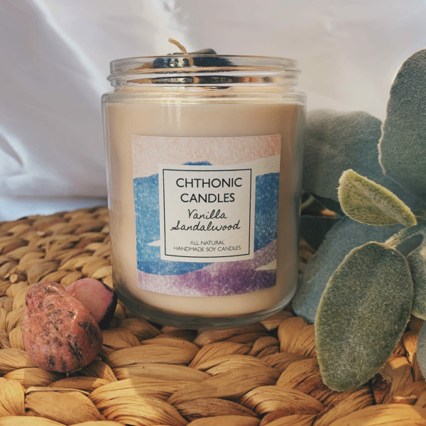 Chthonic Candles Vanilla Sandalwood 8oz