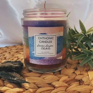Chthonic Candles 7 Layer Chakra 8oz