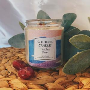 Chthonic Candles Vanilla Rose 4oz