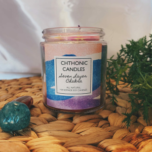 Chthonic Candles 7 Layer Chakra 4oz