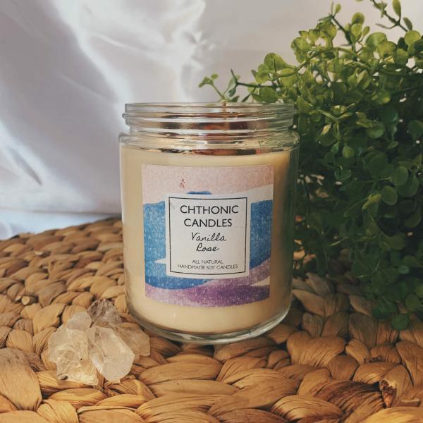 Chthonic Candles Vanilla Rose 8oz