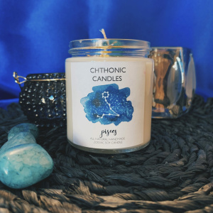 Chthonic Zodiac Pisces Candle 4oz