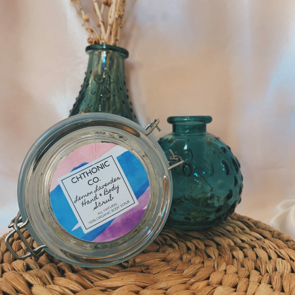 Chthonic Co. Lavender Lemon Hand & Body Scrub 5oz