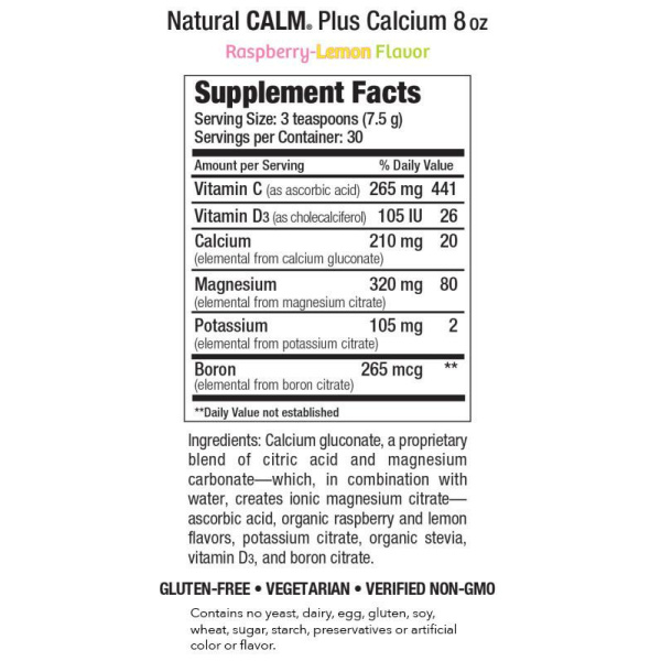 Calm Plus Calcium Raspberry Lemon