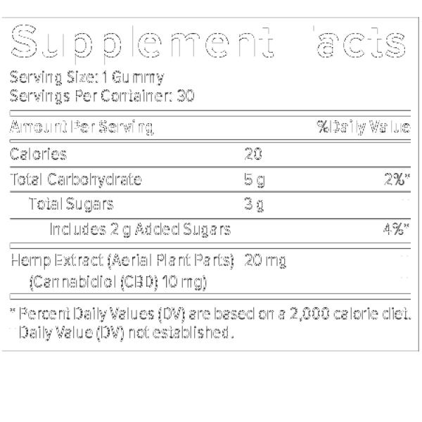 Plus CBD Oil Gummies Citrus Punch 10mg 30ct