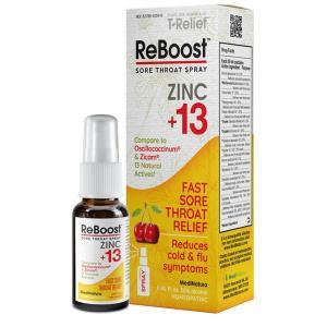 Reboost Zinc + 13 Throat Spray 20ml