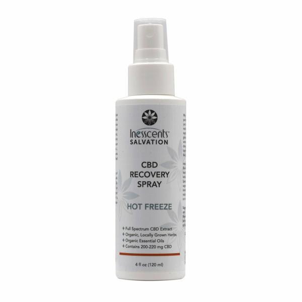 Inesscents CBD Hot Freeze Spray 4oz
