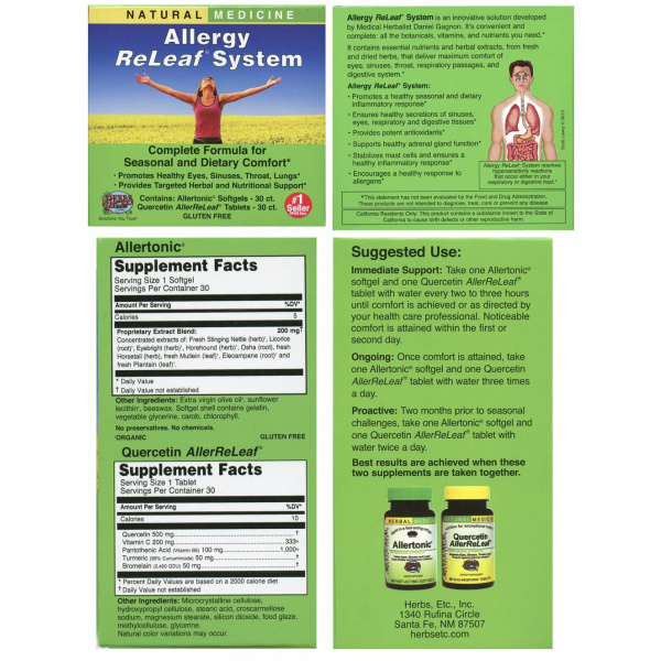 Allergy Relief System 30 Ct