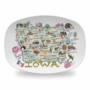 Iowa Map Platter