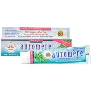 Auromere Foam-Free Cardamom-Fennel Ayurvedic Toothpaste 4oz