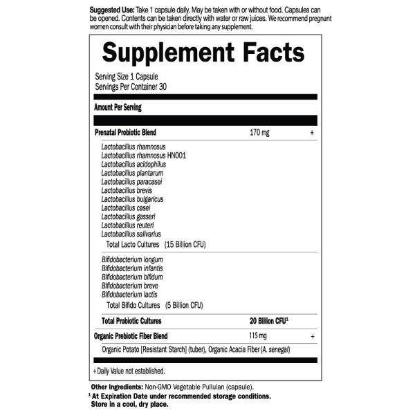 Dr. Formulated Probiotics Prenatal Shelf Stable